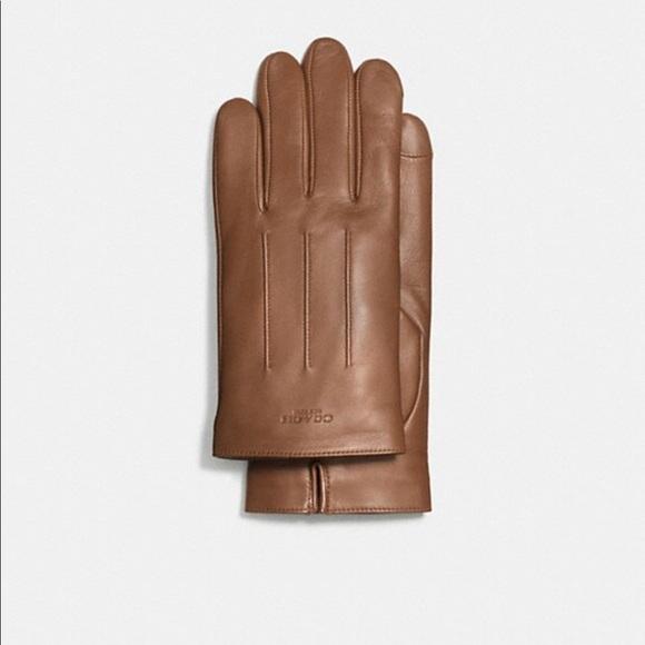c7220770d0268 Coach Accessories   Mens Tan Leather Gloves Sz Xl Final Price   Poshmark